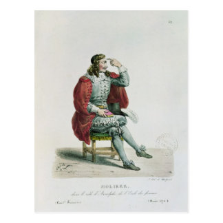 Portrait of Moliere  in the role of Arnolfe Postcard