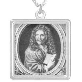 Portrait of Moliere Silver Plated Necklace