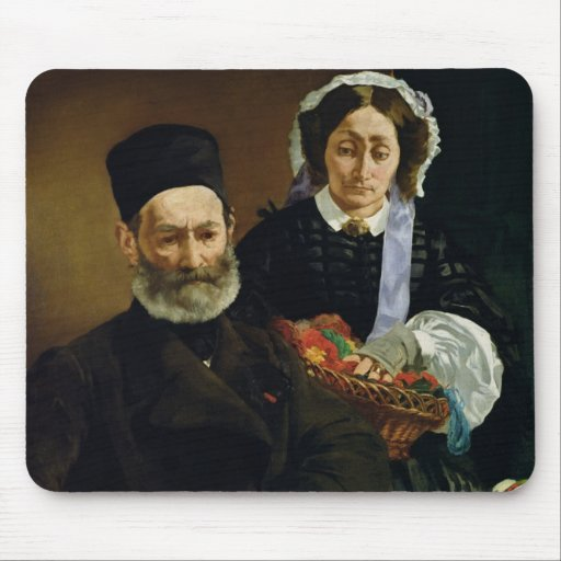 Portrait of Monsieur and Madame Auguste Manet Mouse Pad