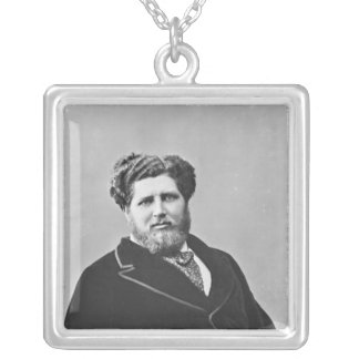 Portrait of Monsieur de Tourguenef Silver Plated Necklace