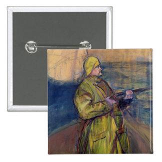 Portrait of Monsieur Maurice Joyant, 1900 15 Cm Square Badge