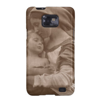 Portrait of mother and child (sepia photo) samsung galaxy s2 cover