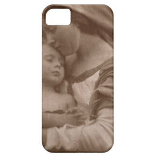 Portrait of mother and child (sepia photo) iPhone 5 cases