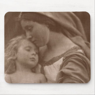 Portrait of mother and child (sepia photo) mouse mat