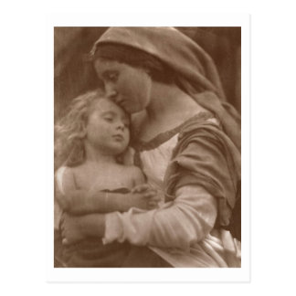 Portrait of mother and child (sepia photo) postcard