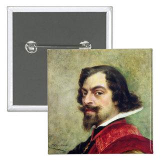 Portrait of Mounet-Sully 15 Cm Square Badge