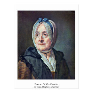 Portrait Of Mrs Chardin By Jean-Baptiste Chardin Postcard