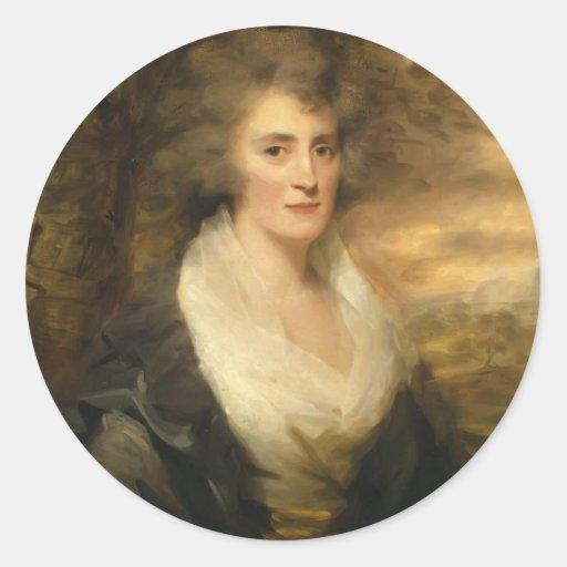 Portrait of Mrs. E. Bethune by Henry Raeburn Round Sticker