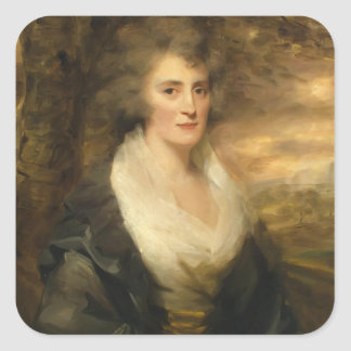 Portrait of Mrs. E. Bethune by Henry Raeburn Square Stickers
