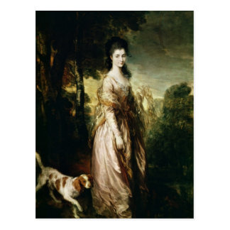 Portrait of Mrs Lowndes-Stone c 1775 Post Card