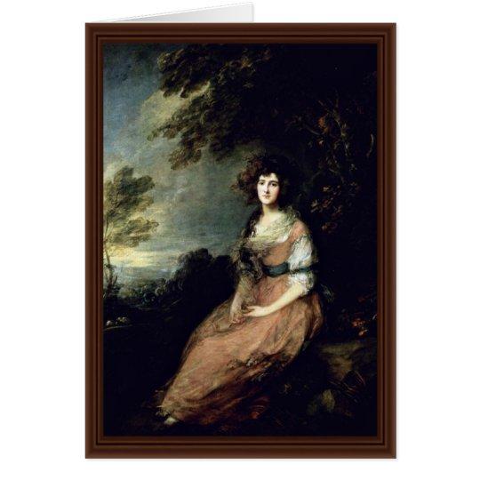 Portrait Of Mrs. Richard B. Sheridan By Thomas Gai Card