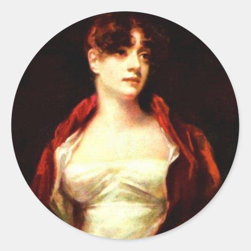 Portrait Of Mrs. Robert Scott Moncrieff By Raeburn Round Stickers