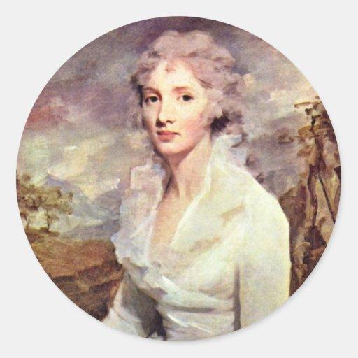 Portrait Of Ms. Eleanor Urquhart By Raeburn Round Stickers