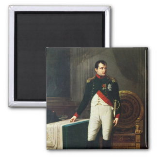 Portrait of Napoleon Bonaparte  1809 Square Magnet