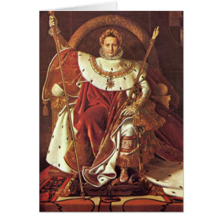 Portrait Of Napoleon I. By Ingres Jean Dominique Greeting Card