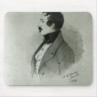 Portrait of Napoleon III  as a young man, 1839 Mouse Pad