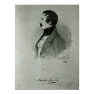 Portrait of Napoleon III  as a young man, 1839 Poster