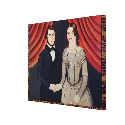 Portrait of Newly-weds Stretched Canvas Print