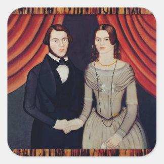 Portrait of Newly-weds Sticker