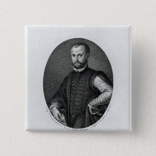 Portrait of Niccolo Machiavelli 15 Cm Square Badge