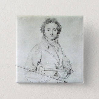 Portrait of Niccolo Paganini  1819 15 Cm Square Badge