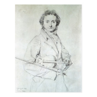 Portrait of Niccolo Paganini  1819 Postcard