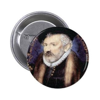 Portrait of Nicholas Hilliard Sr., 1577 6 Cm Round Badge