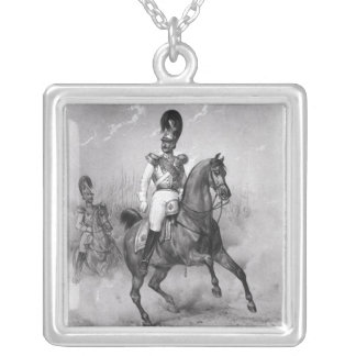Portrait of Nicholas I Pavlovich Silver Plated Necklace