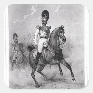 Portrait of Nicholas I Pavlovich Square Sticker