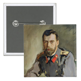 Portrait of Nicholas II, 1900 15 Cm Square Badge