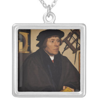 Portrait of Nicholas Kratzer  1528 Silver Plated Necklace