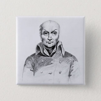 Portrait of Nicolas Appert 15 Cm Square Badge