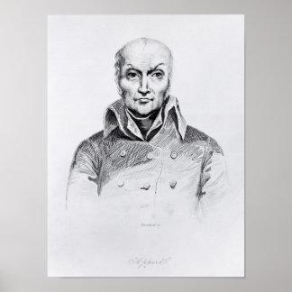 Portrait of Nicolas Appert Poster