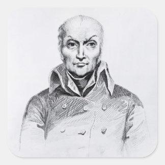 Portrait of Nicolas Appert Square Sticker