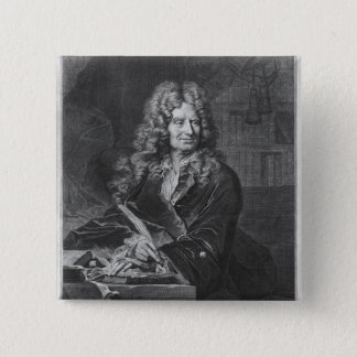 Portrait of Nicolas Boileau 15 Cm Square Badge