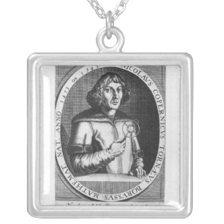 Portrait of Nicolas Copernicus Silver Plated Necklace