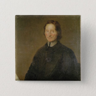 Portrait of Nicolas de Malebranche 15 Cm Square Badge