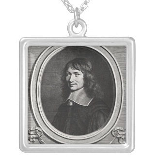 Portrait of Nicolas Fouquet  1662 Silver Plated Necklace