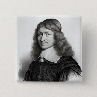 Portrait of Nicolas Fouquet  engraved by Maurin 15 Cm Square Badge