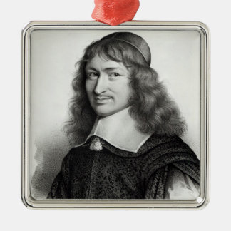 Portrait of Nicolas Fouquet  engraved by Maurin Christmas Ornament