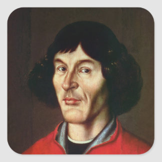 Portrait of Nicolaus Copernicus Square Sticker