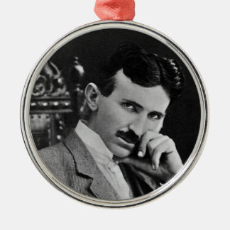 Portrait of Nikola Tesla Christmas Ornament