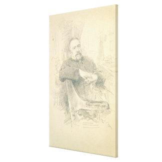 Portrait of Nikolaj Leskov , 1889 Canvas Print
