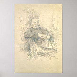 Portrait of Nikolaj Leskov , 1889 Poster