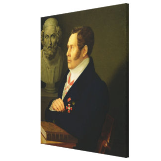 Portrait of Nikolay Gnedich, 1839 Stretched Canvas Print