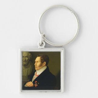 Portrait of Nikolay Gnedich, 1839 Key Chain
