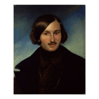 Portrait of Nikolay Gogol, 1841 Poster