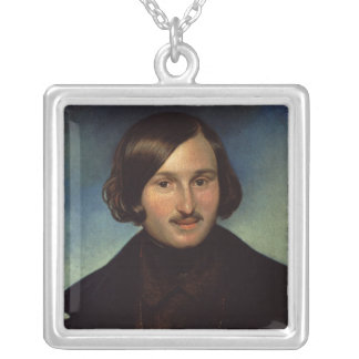 Portrait of Nikolay Gogol, 1841 Silver Plated Necklace