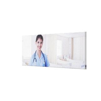 Portrait of nurse in hospital canvas prints
