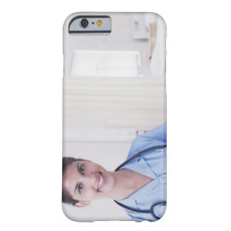 Portrait of nurse in hospital barely there iPhone 6 case